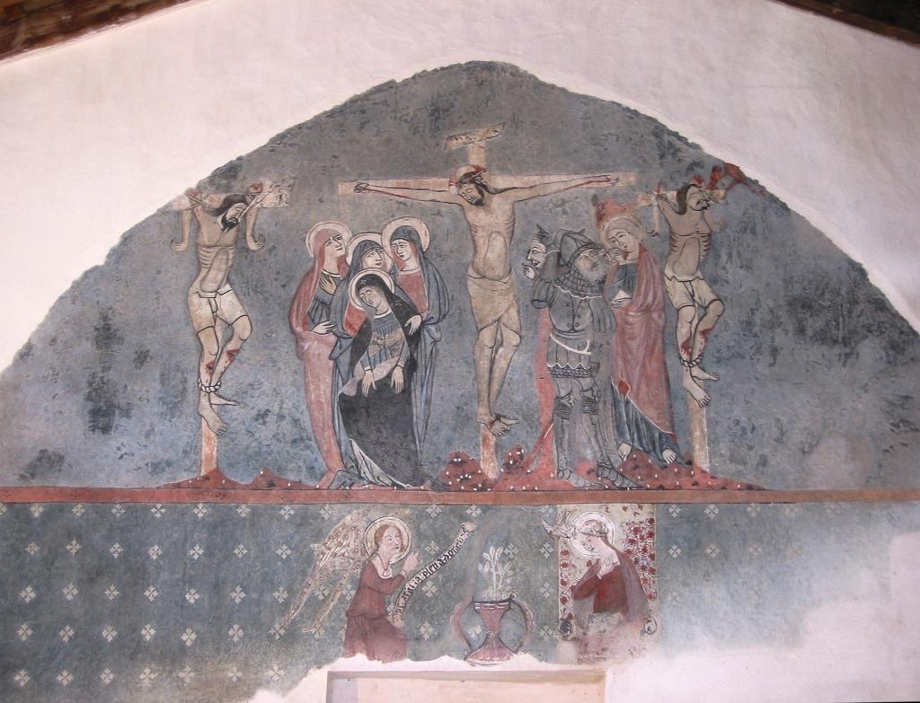un extenso mural del siglo XV